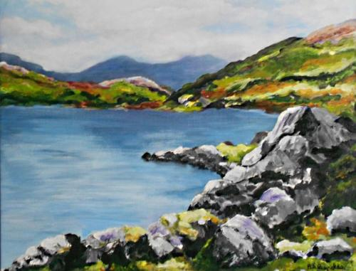 A Day Out In Snowdonia acrylic 60x40 cms framed £110