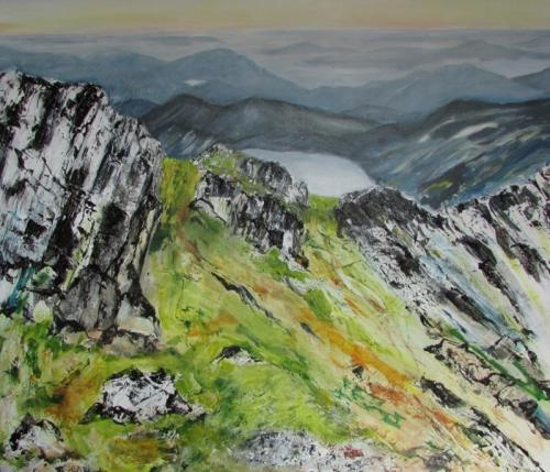 A Walk in Snowdonia  acrylic100cmx100  unframed £300