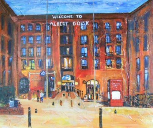 Albert Docks 80x60 cms SOLD