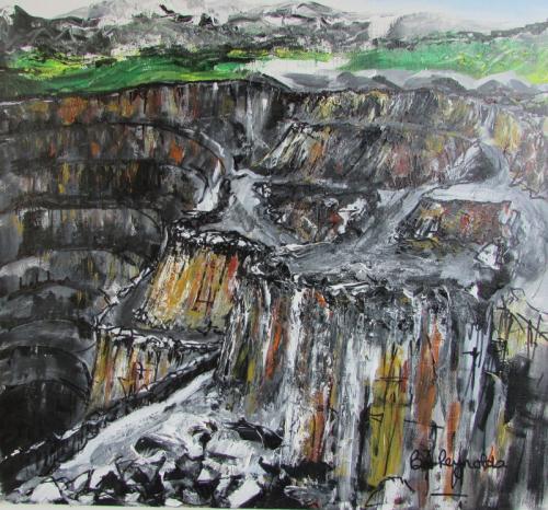 Halkyn Mountain Quarry Acrylic unframed £80 50x50 cms
