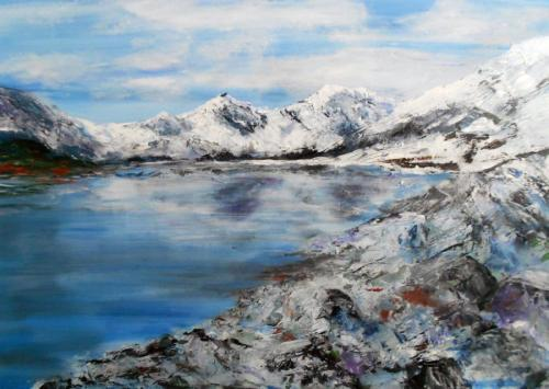 Snowdonia view B 80x80 cms SOLD
