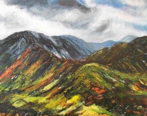 Summer walk snowdonia80x60 cms (2)framed £290