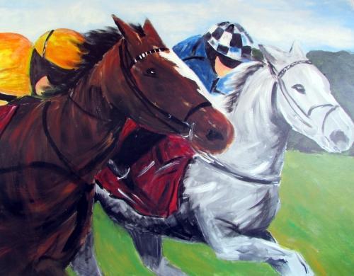 The Race  acrylic unframed £280 100x100cm