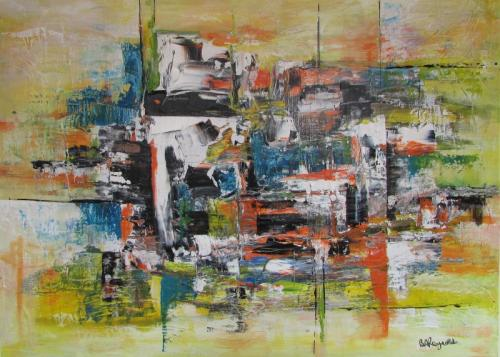 Urban Chaos acrylic unframed £180 79x61cm