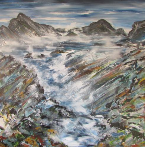 Wild Seas acrylic 100cm x 100cm £280 unframed