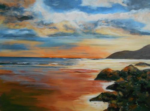 angelsey sunset 80x80 cms SOLD