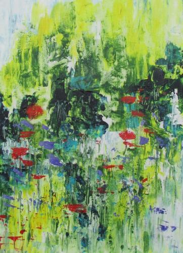 summertime acrylic £90 unframed 46x61cm