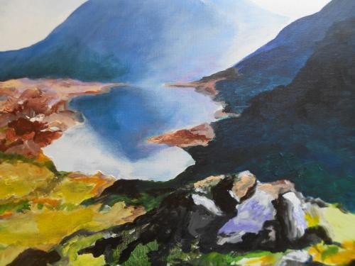 walk in snowdonia 60x40cms acrylic framed £110