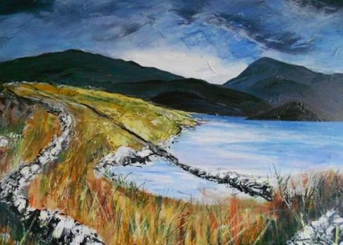 walk in the park snowdonia  80x60 cms SOLD