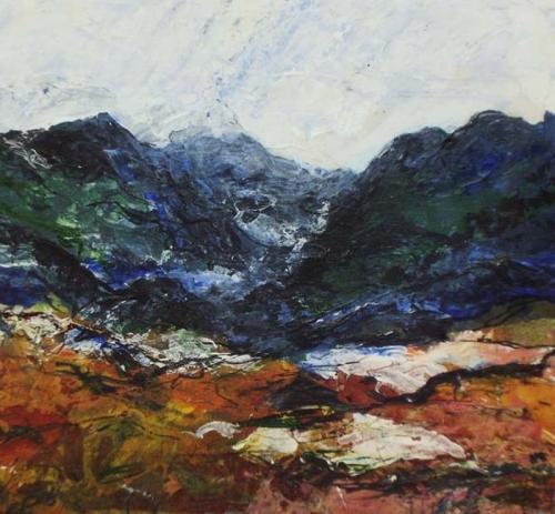 Wild Mountain Snowdonia 100x100 cms SOLD